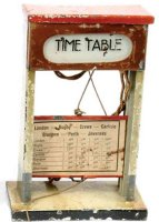 Kibri Railway-Platform Accessories Timetable #79/3 made...