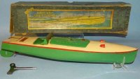 Hornby Tin-Ships Racing boat CURLEW #3 made of tin, with...