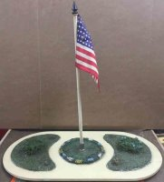 Lionel Wood-Toys Ornamental flag plot #927. Elliptical...