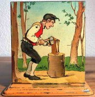 Bing Steam Toys-Drive Models Woodcutter #8743/6 as drive...