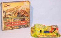 Mettoy Tin-Toys Tin tunnel train #6166 made of tin,...