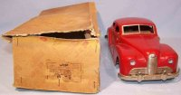 JEP Tin-Cars Large sheet metal car, hand painted in red...