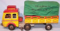 Rossignol Tin-Trucks Truck made of tin and cloth,...