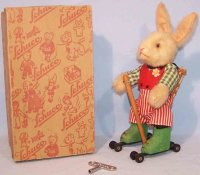 Schuco Tin-Dance Figures Rollo bunny #7404 made of tin,...