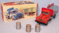 Goeso Tin-Trucks Hanomag pickup truck #483 Esso with...