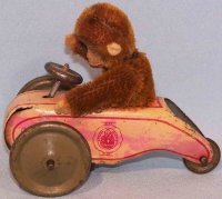 Schuco Tin-Figures Flywheel scooter with monkey #892 made...