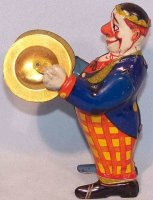 Keim Tin-Clowns Laughing Clown #917/19 with cymbals, made...