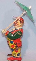 Keim Tin-Clowns Clown with umbrella #917/19, made of tin,...