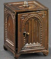 Unknown Cast-Iron-Mechanical Banks Arched safe bank with...