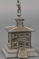 Unknown Cast-Iron-Mechanical Banks French building with...