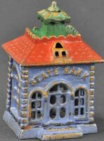 Kyser & Rex Cast-Iron-Mechanical Banks Small state bank...