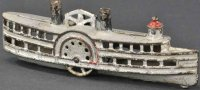 Williams AC Cast-Iron-Mechanical Banks Paddle wheel steam...