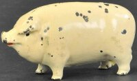 Arcade Cast-Iron-Mechanical Banks Small painted pig still...
