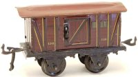 Bing Railway-Passenger Cars Baggage car #10328 with four...