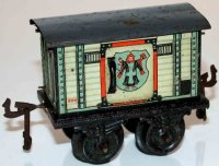 Bing Railway-Freight Wagons Beer car #10125 with four...