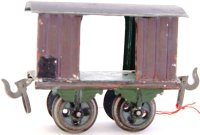 Bing Railway-Freight Wagons Box car #8417 with four...
