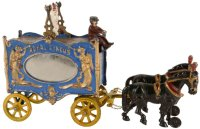 Hubley Cast-Iron-Carriages Calliope royal with side...
