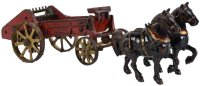 Vindex Cast-Iron-Carriages Cast iron horse drawn manure...