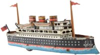 Guenthermann Tin-Ships Ocean liner wind-up toy, made of...