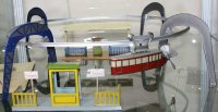 Bing Tin-Toys Clockwork suspension railway #10/9387 with...
