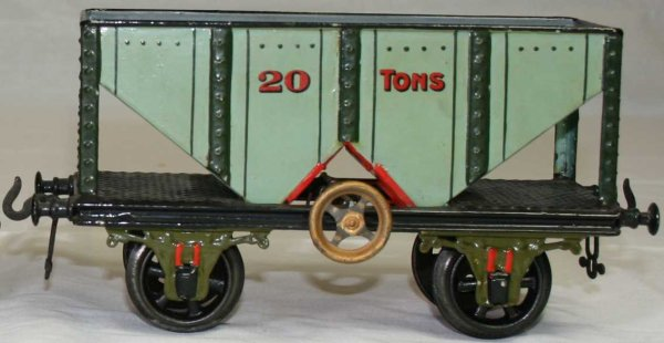 Bing Railway-Freight Wagons Coal wagon #13668/2 with four wheels, handpainted light blue