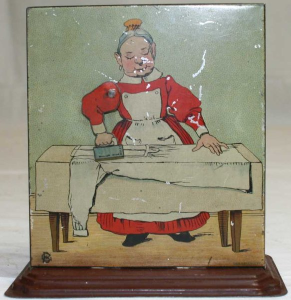Bing Steam Toys-Drive Models Woman ironing #8743/4 as drive model for steam engines, made