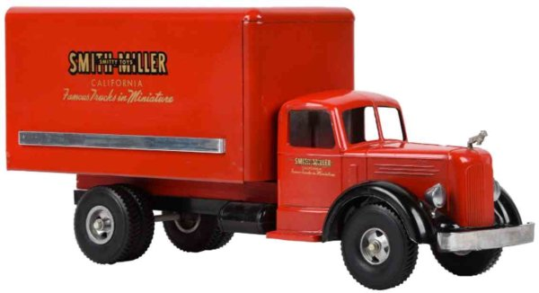 Smith-Miller Tin-Trucks L Mack van made of pressed steel with L Mack cab, opening re