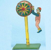 Moskowitz Max Nuernberg Tin-Clowns Clown on colorful...