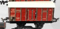 Bub Railway-Freight Wagons Box car #982 wit four wheels,...