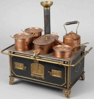 Bing Tin-Kitchens and Amenities Doll herd, not marked,...