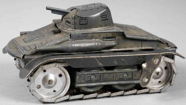 Arnold Military-Vehicles Tank #A680, marked Made in Germany, sheet metal in camouflag