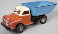 GAMA Tin-Trucks Dump truck, marked with additional Made...