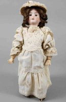 Recknagel Theodor Dolls Porcelain head doll, head marked...