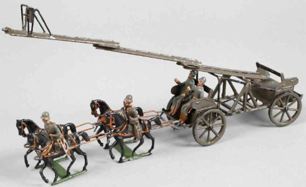 Heyde Military-Carriages Observation car for artillery #578, unmounted, pewter cast a