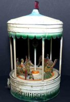 Bing Steam Toys-Drive Models Carousel #10/295 mad eof tin...