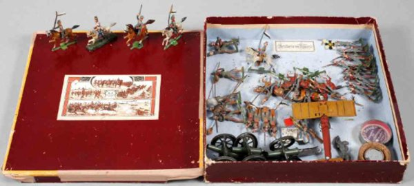 Bischoff Josef Military-Figures Tin soldiers Artillery in fire, handpainted from pewter ca