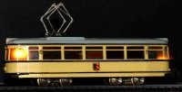 Hamo Cast-Iron-Trams Streetcar in beige and black for DC,...