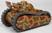 Tippco Military-Vehicles Tank # 201, unmarked, tin...