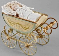 Maerklin Dolls Accessories Doll carriage made of...