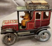 Fischer Georg Tin-Oldtimer Limousine with driver, made of...