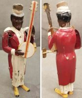 Guenthermann Tin-Figures Black minstrel playing banjo...