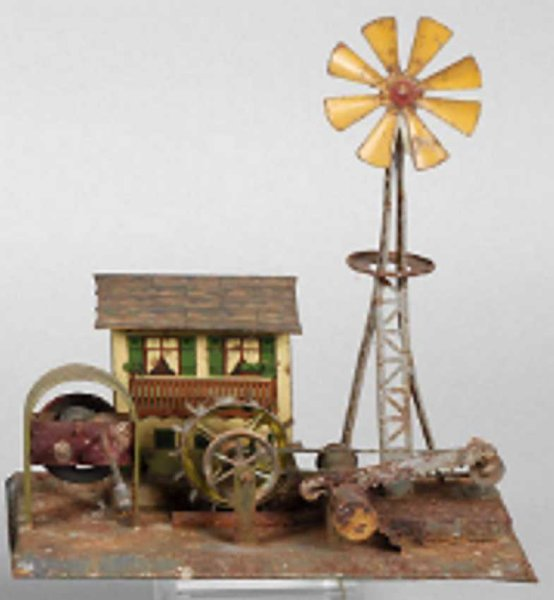 Wunderlich Steam Toys-Drive Models Mill house with pinwheel and saw