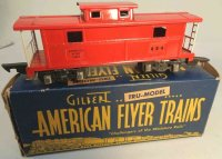American Flyer Railway-Freight Wagons Caboose #484 with...