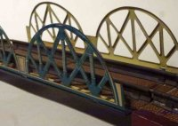 Distler Railway-Bridges Double arch lattice bridge #158,...