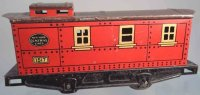 Lionel Railway-Freight Wagons Caboose #1517.2 with four...