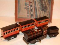 Schuhmann Adolf Railway-Trains Passenger train set #166/5...