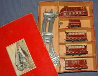 Schuhmann Adolf Railway-Trains Passenger train in red...