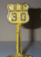 Arcade Tin Others Road sign made of cast iron US 30...