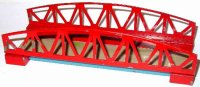 Kibri Railway-Bridges Railway bridge #0/61/50 in red