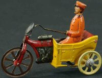 Kellermann Tin-Penny Toy Man on tricycle #126, made of...